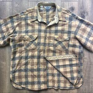 Vintage Woolrich Heavyweight Wool Flannel Shirt